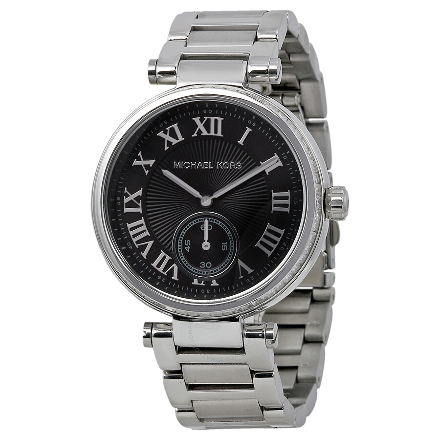 e9c6395df31 Michael Kors Skylar Black Dial Stainless Steel Ladies Watch MK6053 ...