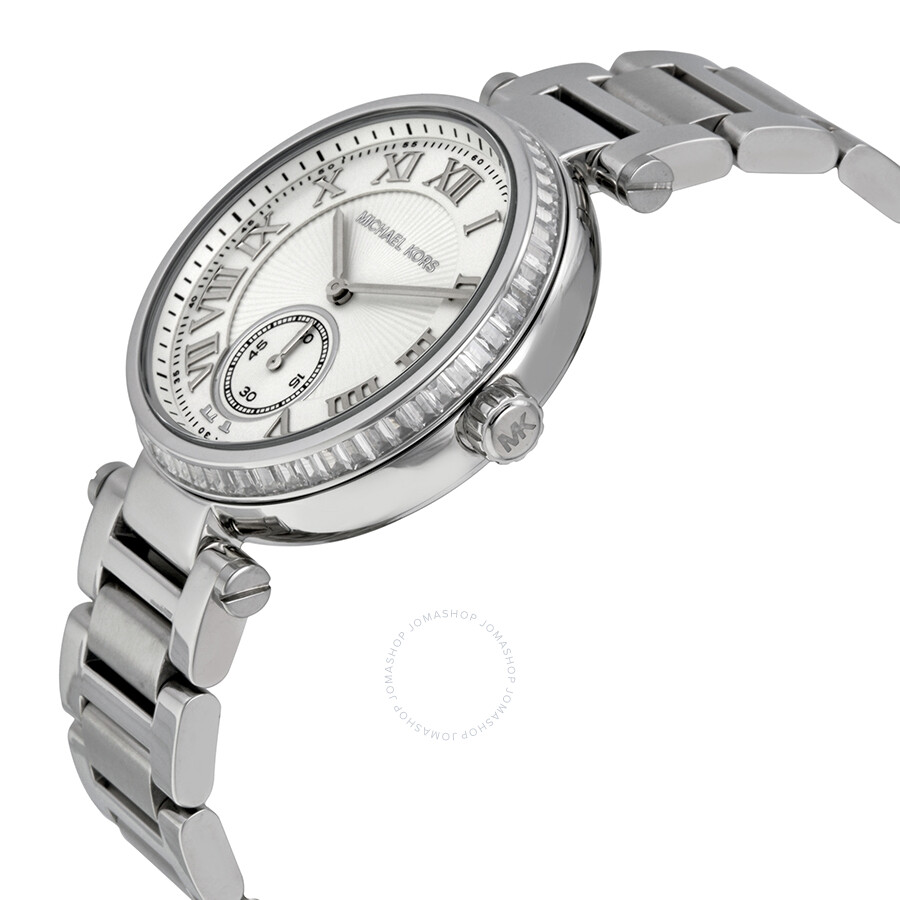 d2ed160d852 ... Michael Kors Skylar Silver Dial Stainless Steel Ladies Watch MK5866 ...