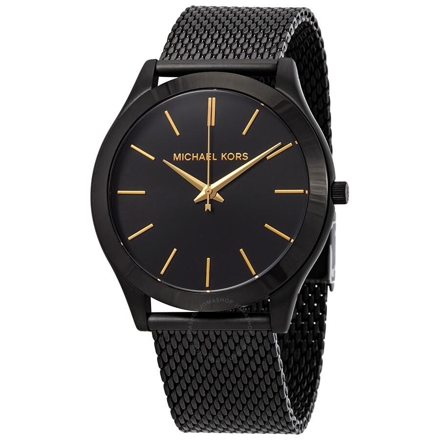 49da47f42d28 Michael Kors Slim Runway Black Dial Men s Watch MK8607 - Slim Runway ...