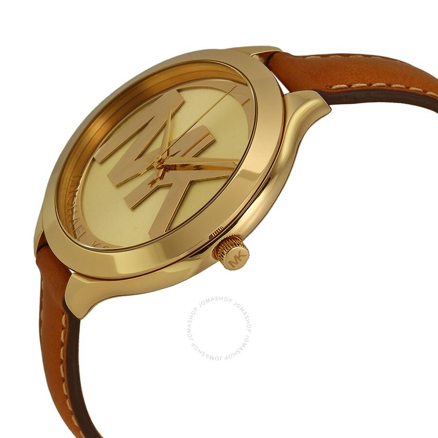 c90d0b0299161 Michael Kors Slim Runway Champagne Dial Ladies Watch MK2326 - Slim ...