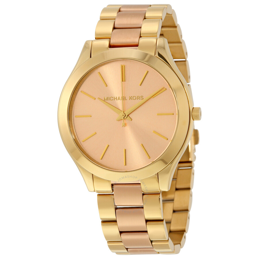 8277ad2e99 Michael Kors Slim Runway Pink Dial Ladies Watch MK3493 - Slim Runway ...