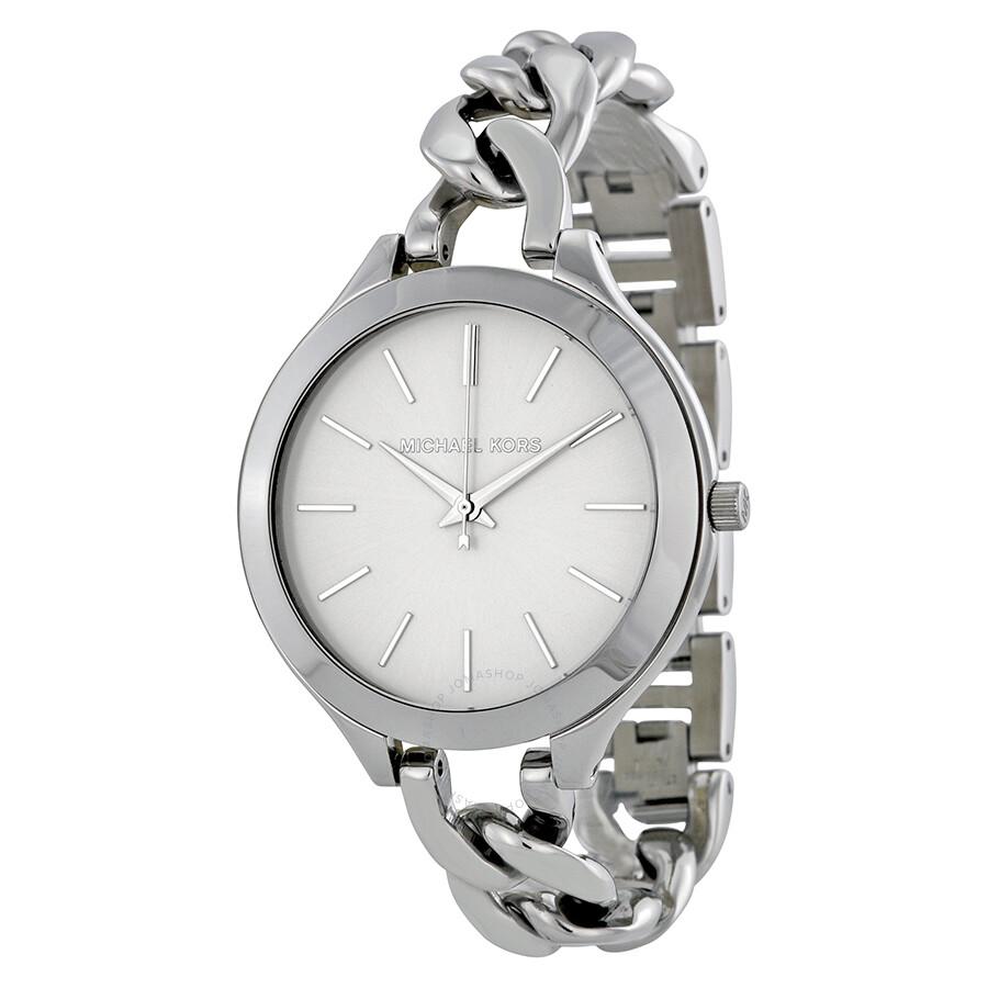 c7b697cf4631 Michael Kors Slim Runway White Dial Ladies Watch MK3279 - Runway ...