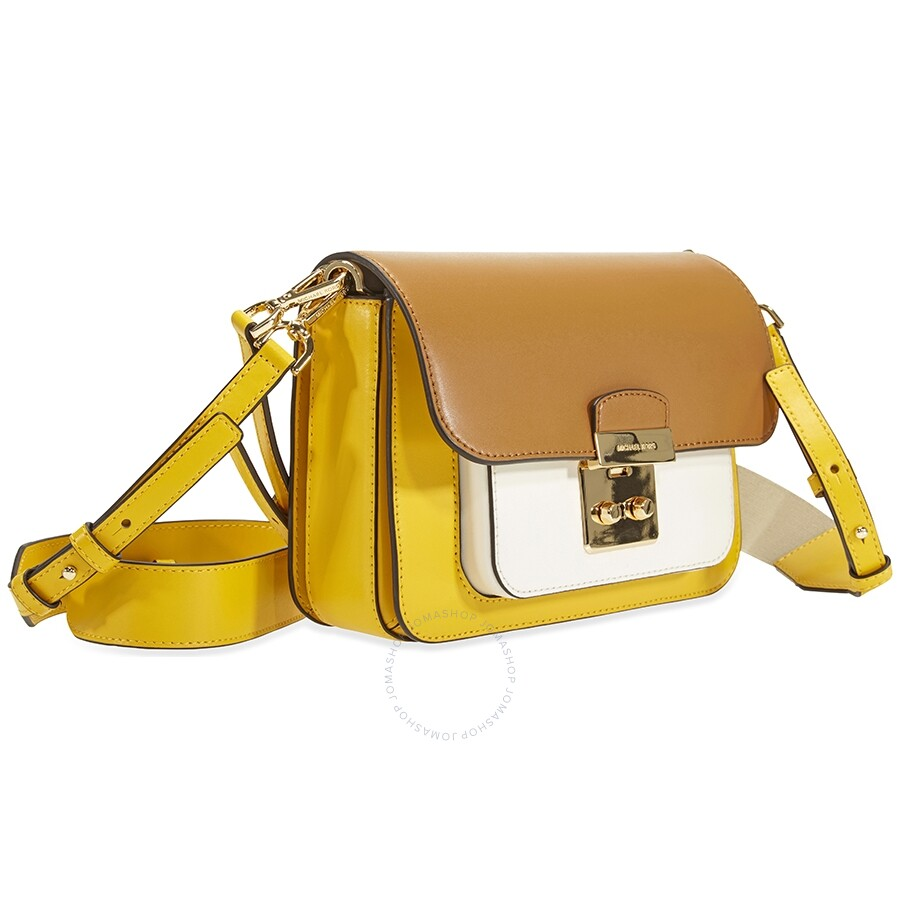 831a0f9e5a78 Michael Kors Sloan Editor Color-Block Leather Shoulder Bag- Yellow Multi