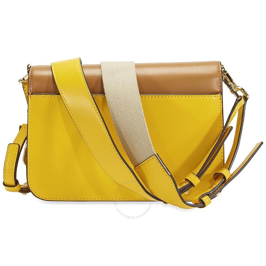 9abb75fc87de Michael Kors Sloan Editor Color-Block Leather Shoulder Bag- Yellow Multi