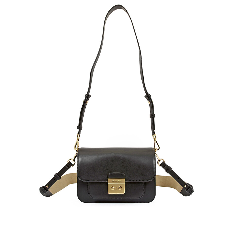 3509c2de06435 Michael Kors Sloan Editor Large Shoulder Bag- Black Item No. 30T7GS9L3L-001