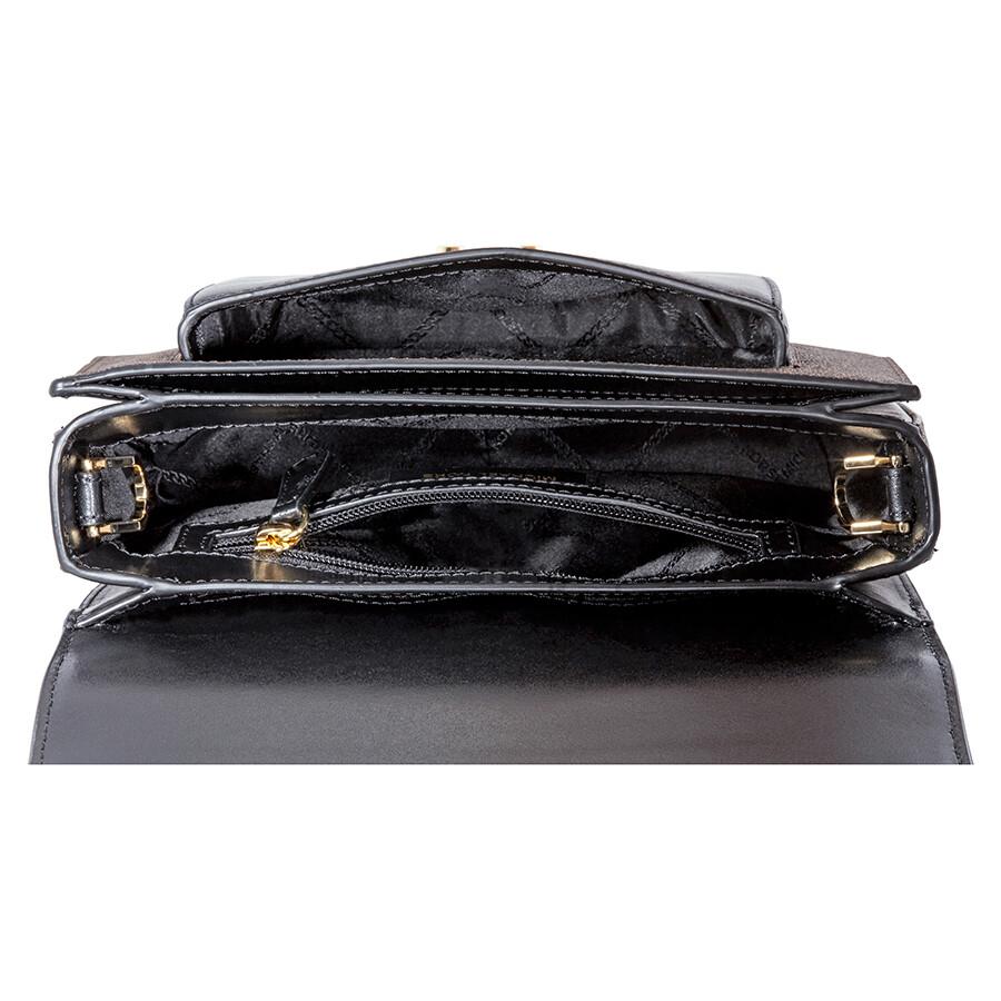 Michael Kors Sloan Editor Large Shoulder Bag- Brown Black - Sloan ... d0a6b3688b17b