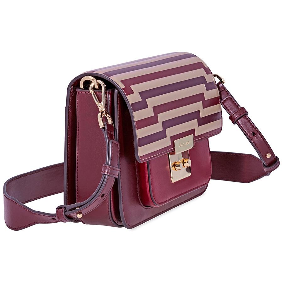 Michael Kors Sloan Editor Tri-Color Leather Shoulder Bag- Oxblood ... 2b3166267b91c