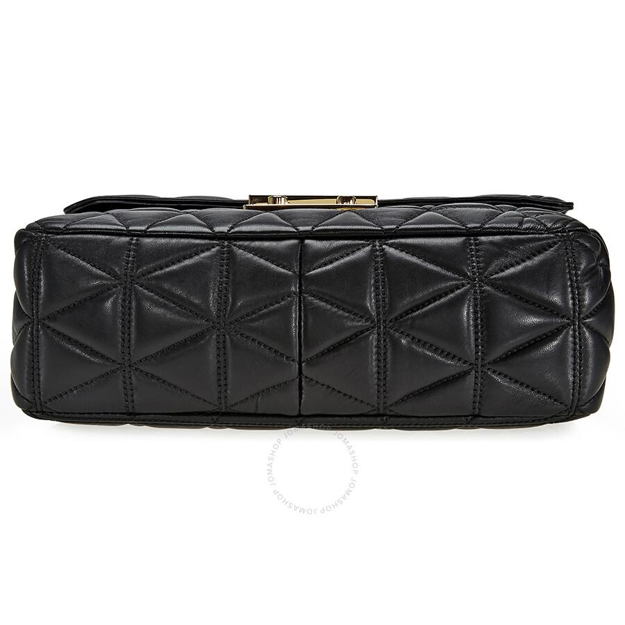 5bfa97724764d9 Michael Kors Sloan Extra Large Quilted Shoulder Bag- Black - Michael ...