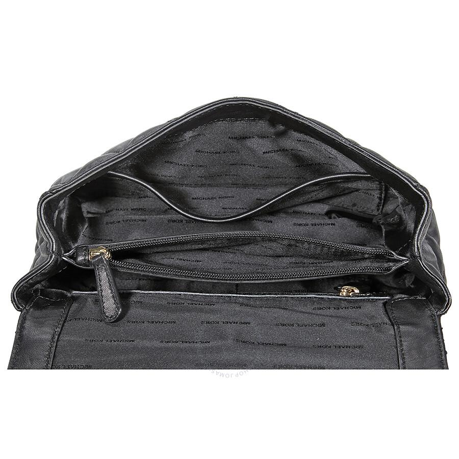 7d0ccd2a9018 Michael Kors Sloan Large Chain Shoulder Bag - Black - Michael Kors ...