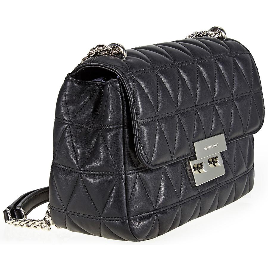 Michael Kors Sloan Large Quilted Shoulder Bag Black