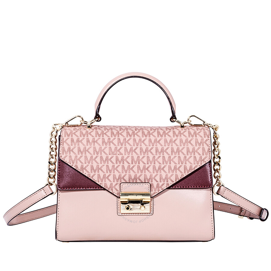 6839ea9d6706 Michael Kors Sloan Leather Medium Satchel - Pink Multi Item No.  30F8TSLS2V-982