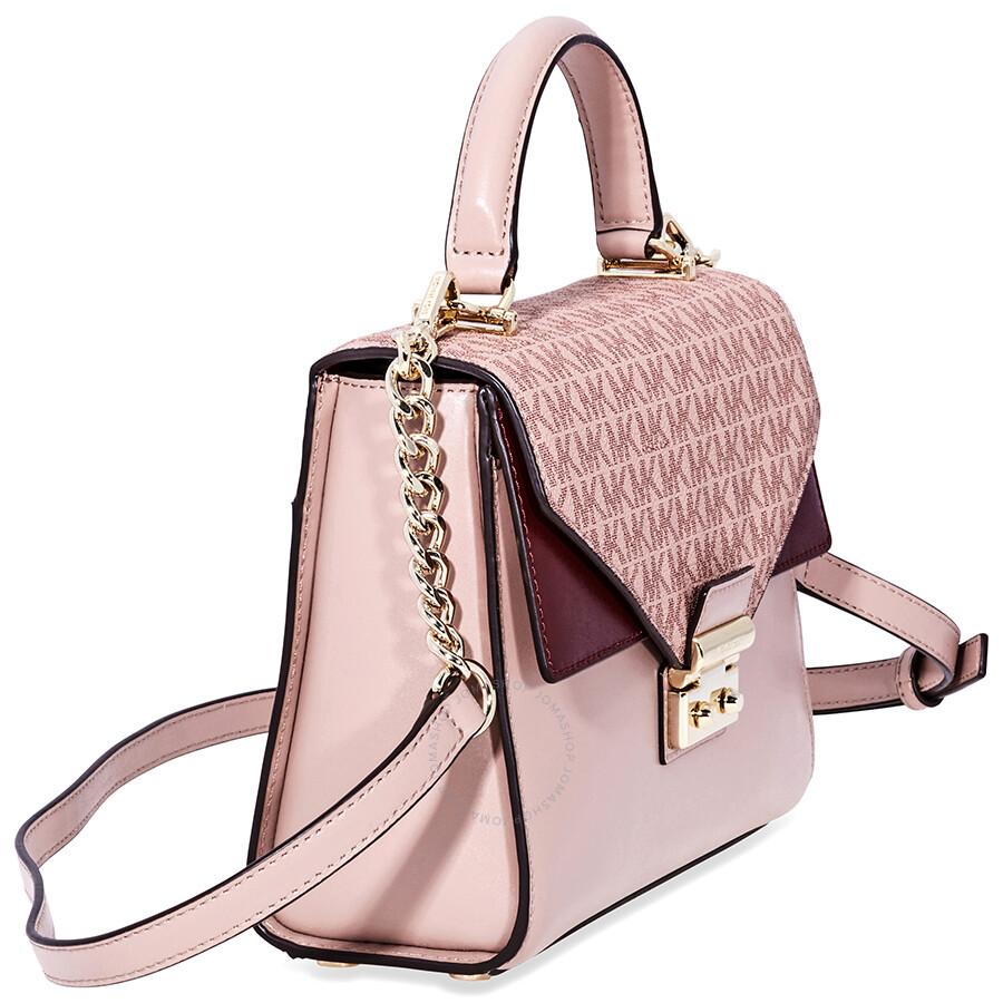 5ab794133 Michael Kors Sloan Leather Medium Satchel - Pink/Multi - Sloan ...