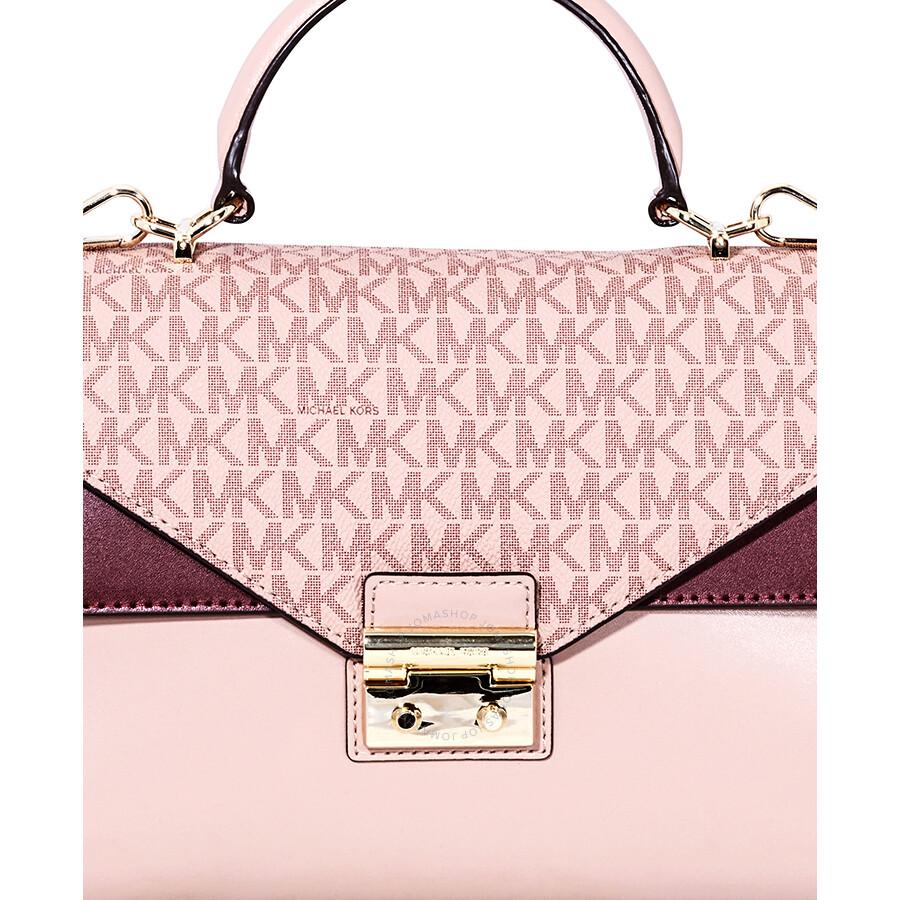 989c20e43 Michael Kors Sloan Leather Medium Satchel - Pink/Multi Item No.  30F8TSLS2V-982