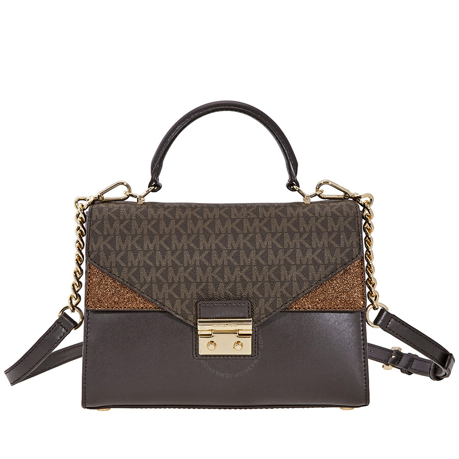 91d267a56f Michael Kors Sloan Leather Satchel- Chocolate - Sloan - Michael Kors ...