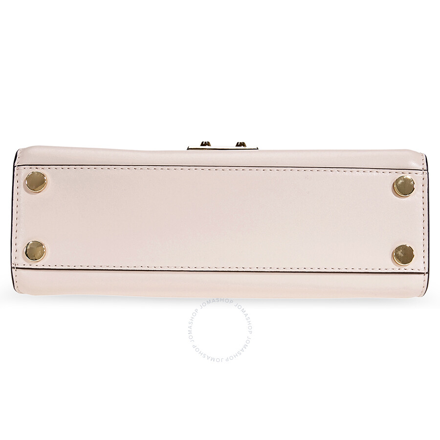 e032ca74adaa Michael Kors Sloan Medium Leather and Logo Satchel- Brown  Soft Pink ...