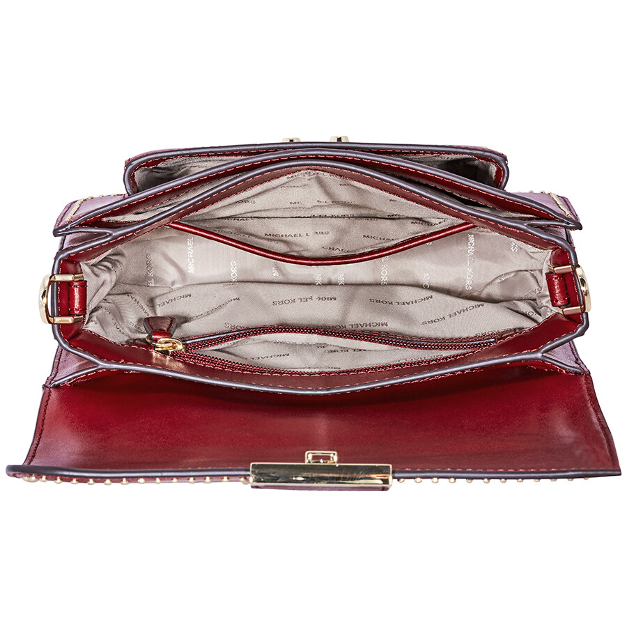 57b500ef5ec36 Michael kors Sloan Studded Leather Shoulder Bag - Red - Sloan ...