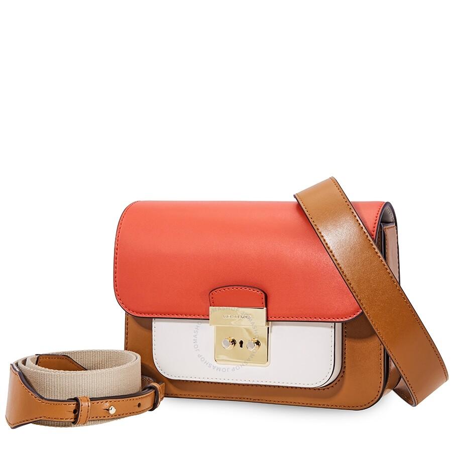 a3cb5953e5a9 Michael Kors Sloan Tri-Color Leather Shoulder Bag - Acorn/Multi Item No.  30H8TS9L3T-932