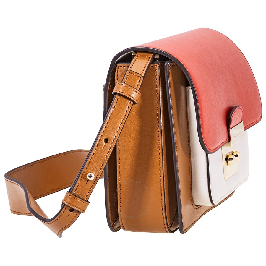 02735b02c553 Michael Kors Sloan Tri-Color Leather Shoulder Bag - Acorn/Multi ...