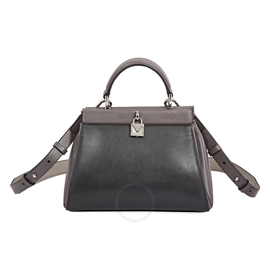 013c6d45e64b Michael Kors Small Gramercy Leather Satchel- Charcoal Multi ...