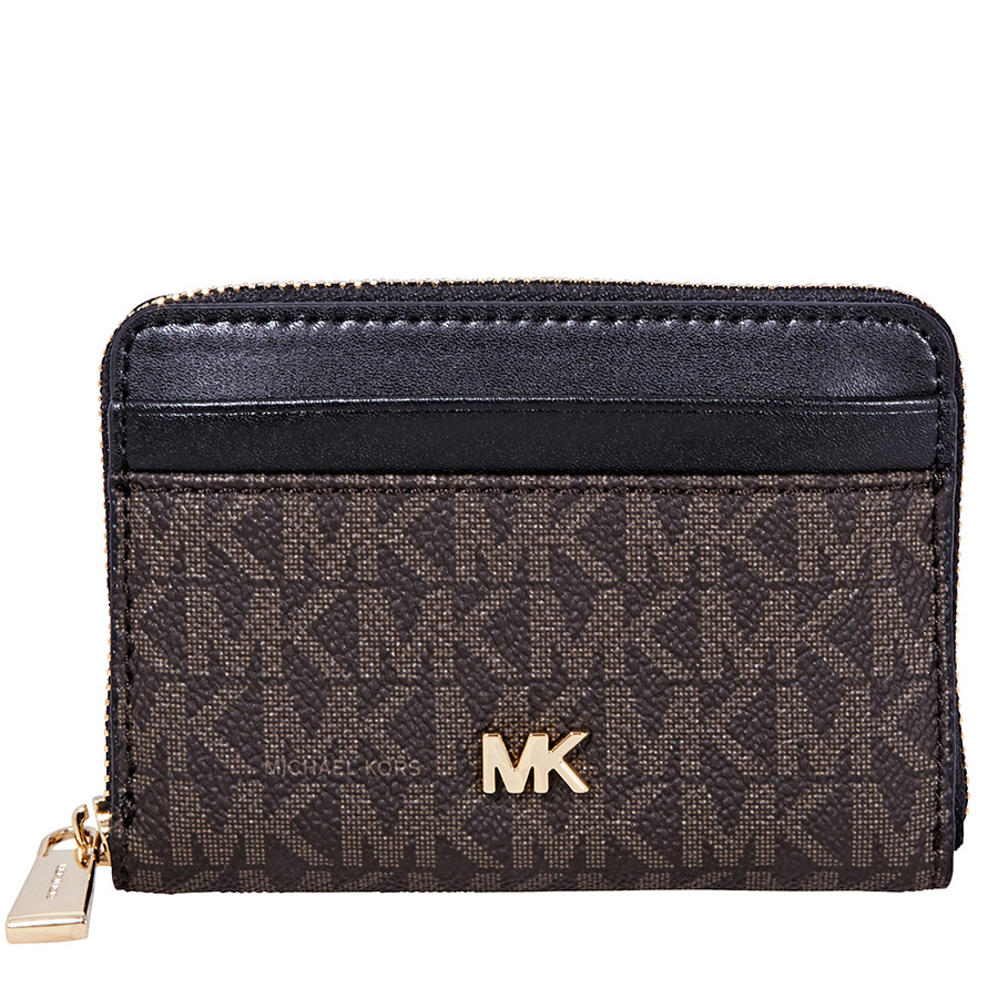 49f57ac9de7f Michael Kors Small Logo Print Wallet- Brown/Black Item No. 32F8GF6Z1B-292