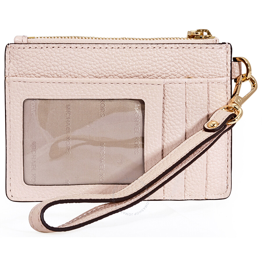 208210a29a7c71 Michael Kors Small Mercer Pebbled Leather Coin Case- Soft Pink ...