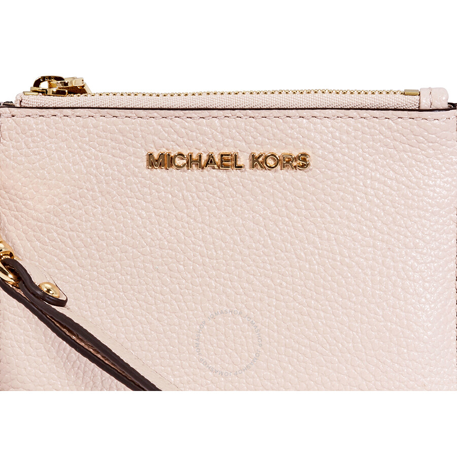 706f914bc17b77 Michael Kors Small Mercer Pebbled Leather Coin Case- Soft Pink Item No.  32T7GM9P0L-187