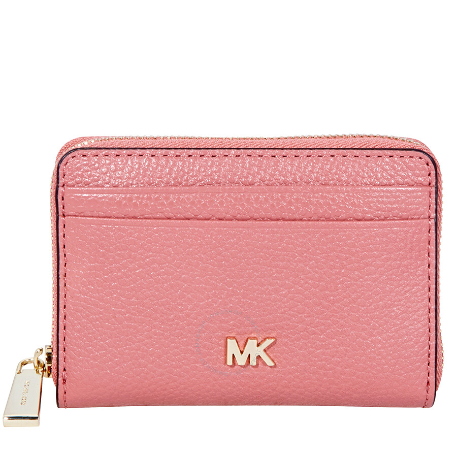 3e3c8dc57bde Michael Kors Small Pebbled Leather Wallet- Rose Item No. 32F8TF6Z0L-622