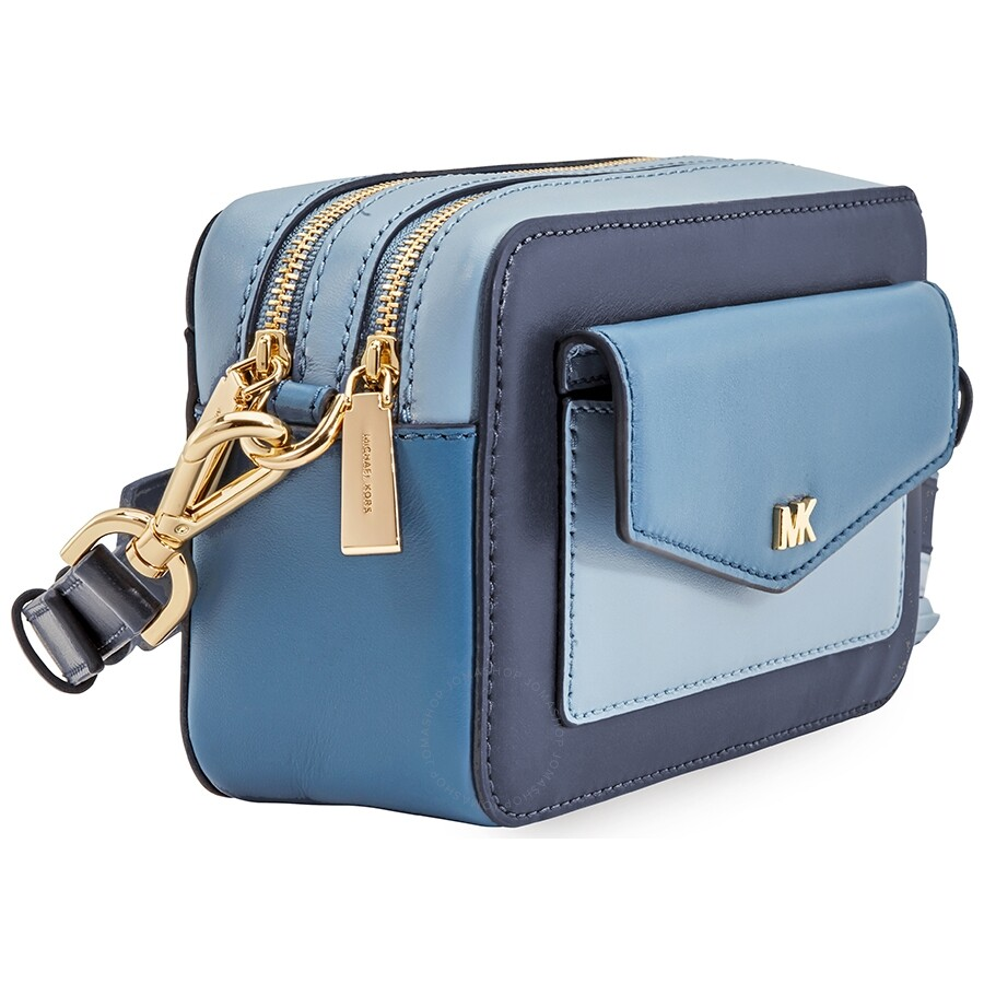 b2e98f45589ece Michael Kors Small Tri-Color Leather Camera Bag- Admiral/Multi ...