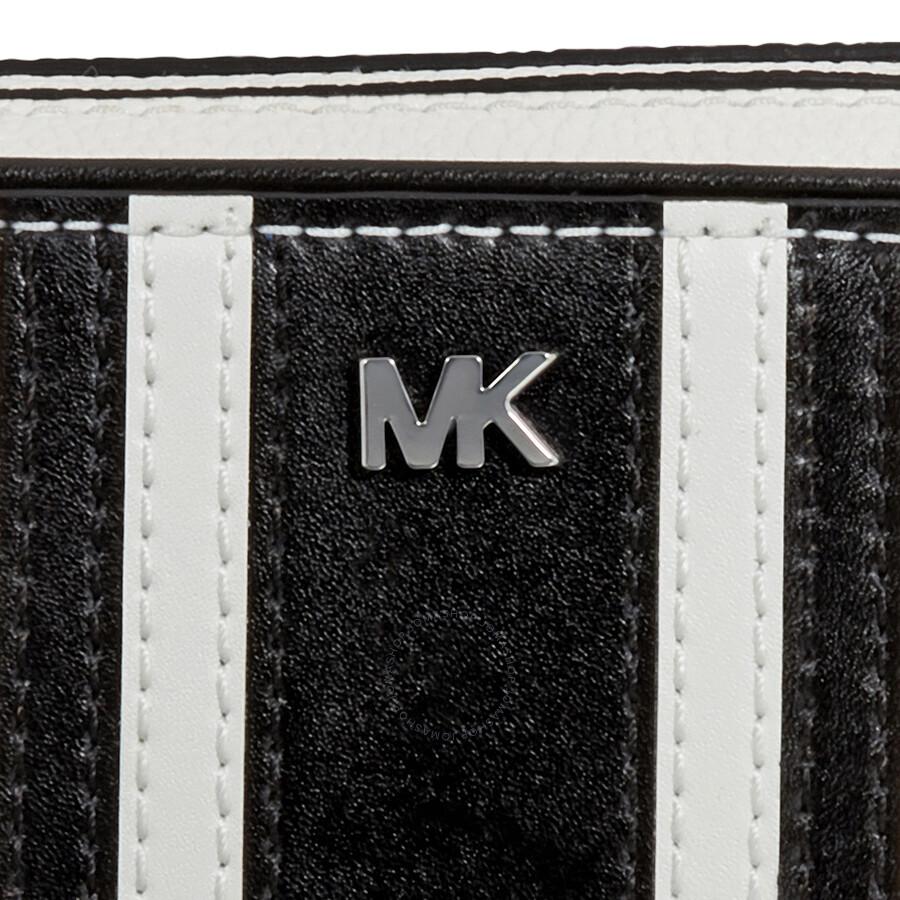 65ee3e270a58 Michael Kors Small Tri-Color Leather Camera Bag- Optic White Black ...