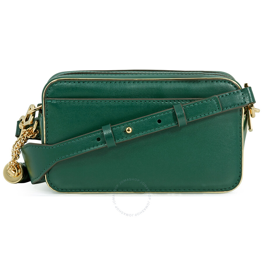 fe256e4f5f77d Michael Kors Small Quilted Tri-Color Leather Camera Bag- Racing Green Multi