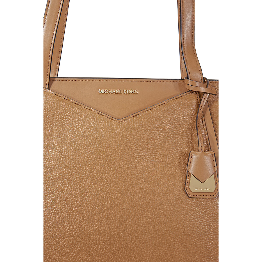 deecd8042e23 Michael Kors Small Whitney Pebbled Leather Tote- Acorn - Michael ...
