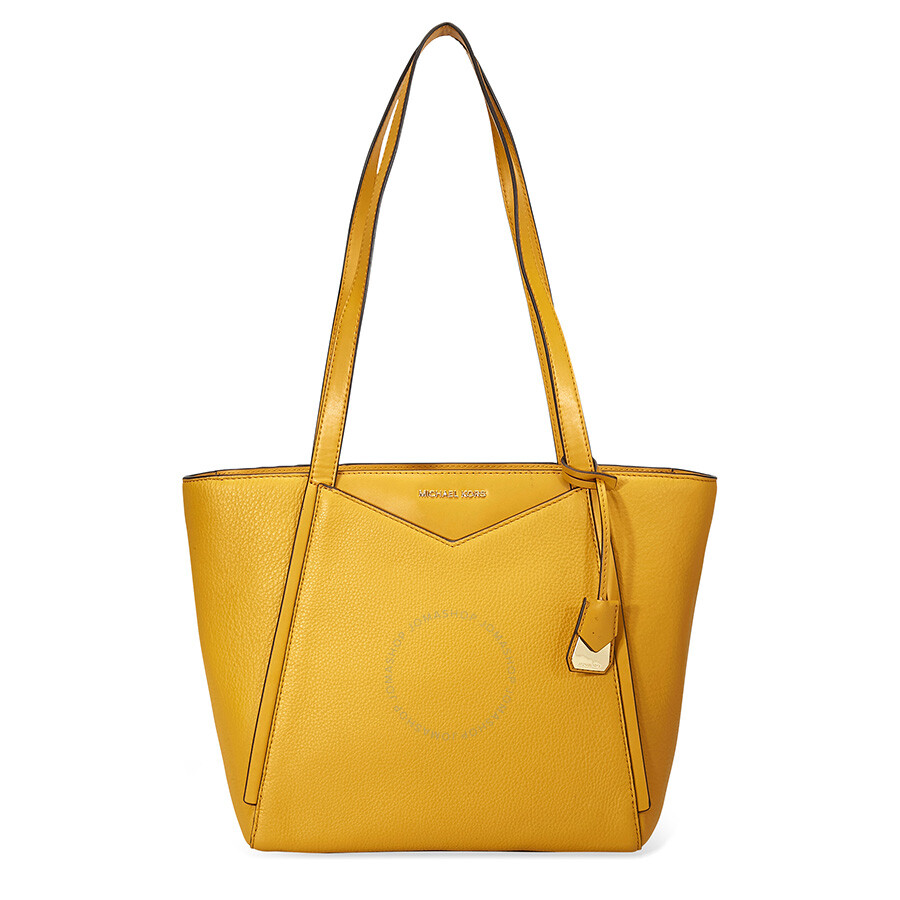 5e5531bd3ad7 Michael Kors Small Whitney Pebbled Leather Tote- Marigold - Michael ...
