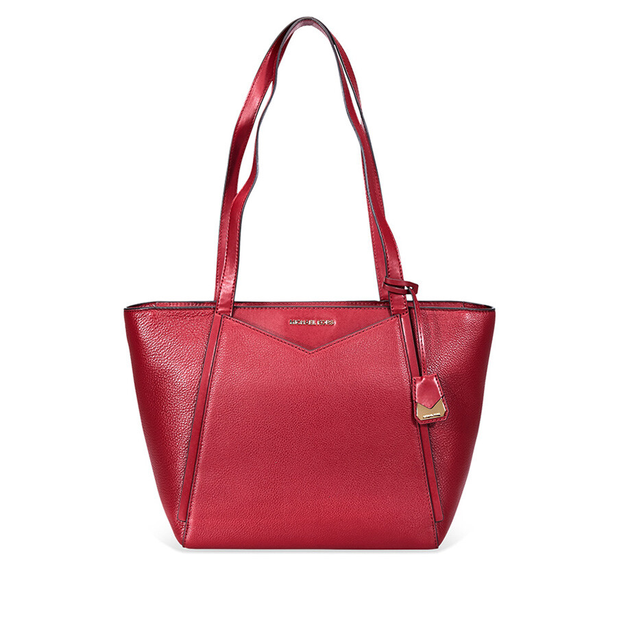 dde4382d03f4 Michael Kors Small Whitney Pebbled Leather Tote- Oxblood - Michael ...