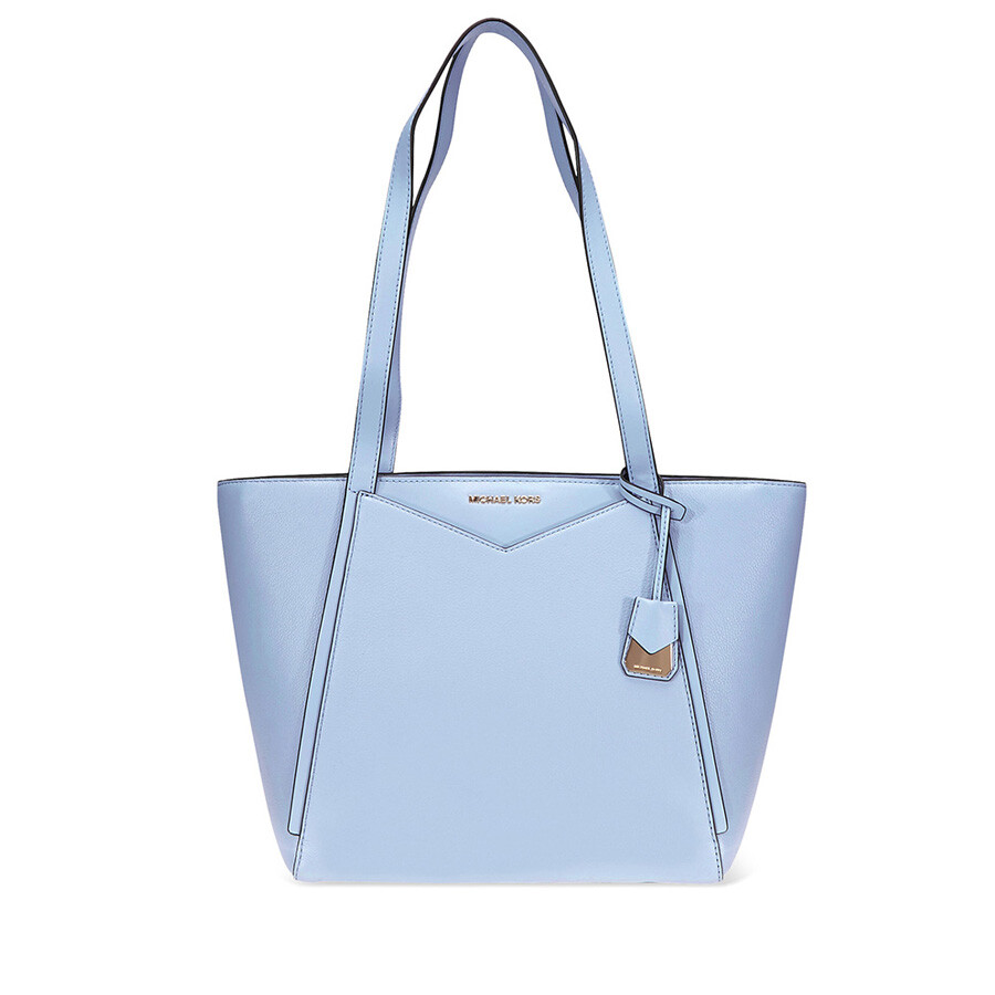 92f69f82f3f2 Michael Kors Small Whitney Pebbled Leather Tote- Pale Blue Item No.  30S8GN1T1L-487