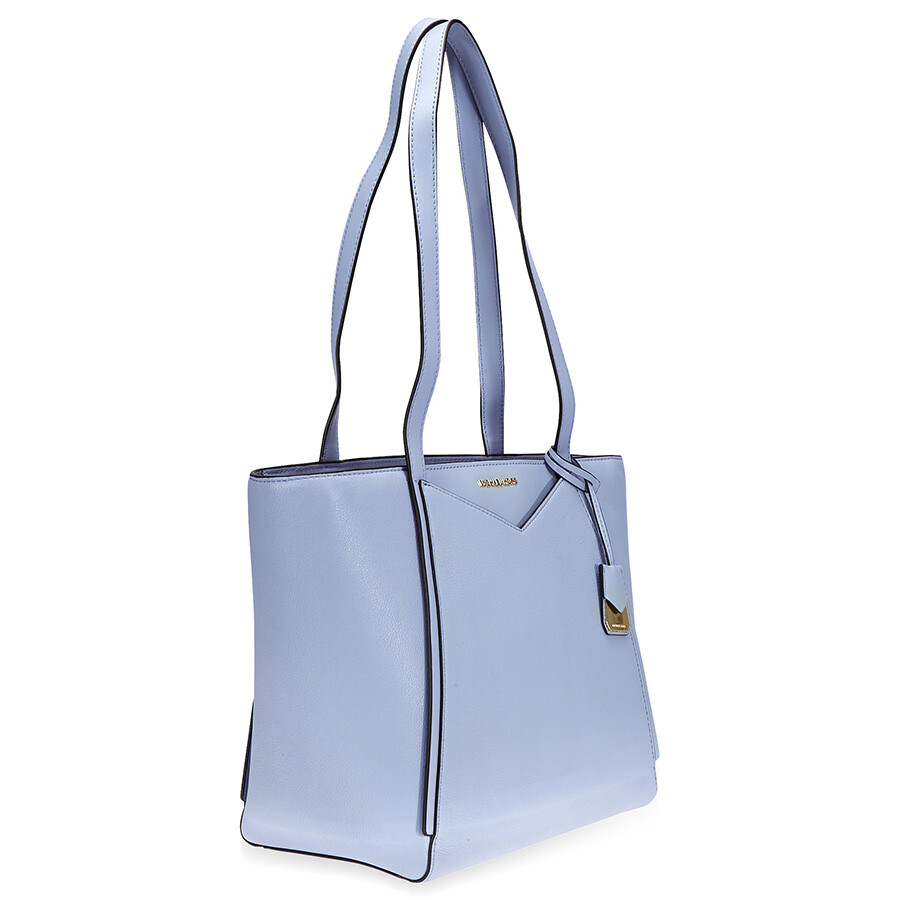 6256b8480f36 Michael Kors Small Whitney Pebbled Leather Tote- Pale Blue - Michael ...