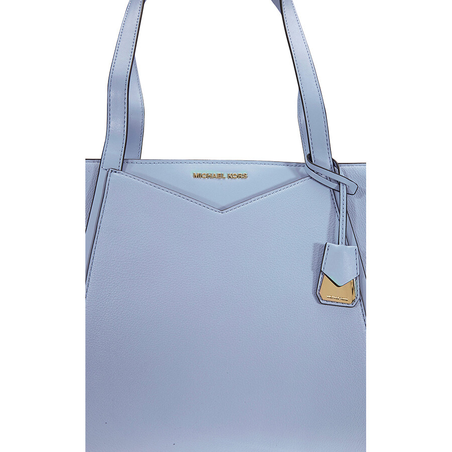 2ad1b8d69783a Michael Kors Small Whitney Pebbled Leather Tote- Pale Blue - Michael ...