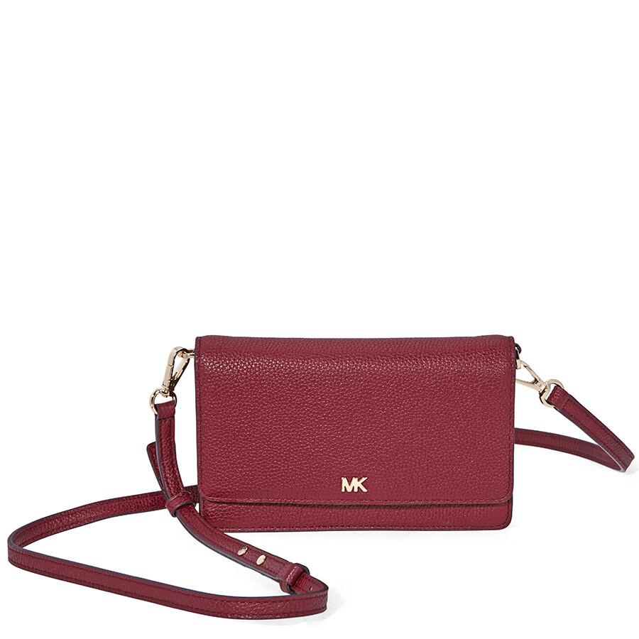 53cd5a09132e Michael Kors Smartphone Crossbody- Maroon - Michael Kors Handbags ...