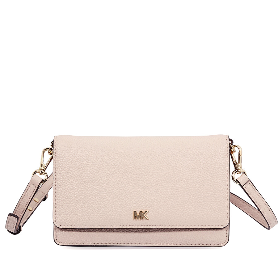 0960fb654297 Michael Kors Pebbled Leather Convertible Crossbody- Soft Pink Item No.  32T8GF5C1L-187