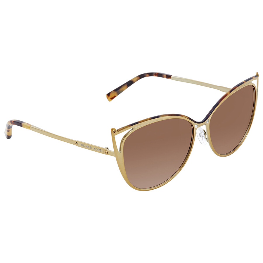 e85b8642ca61f Michael Kors Smoke Gradient Cat Eye Ladies Sunglasses MK1020-116313-56 ...