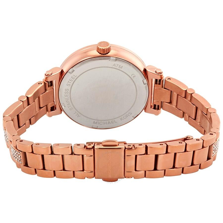 f03abd192cd7 Michael Kors Sofie Crystal Rose Dial Ladies Watch MK3882 - Michael ...