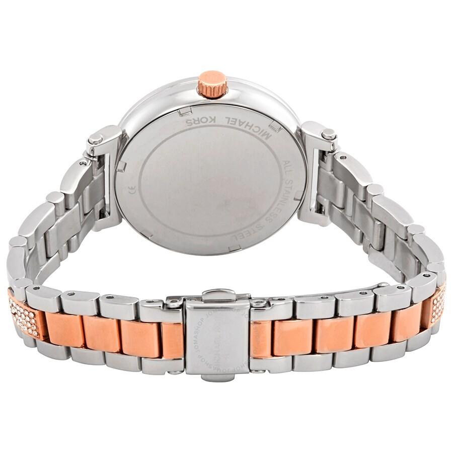 c32644f9c2ff Michael Kors Sofie Crystal Silver Dial Two-tone Ladies Watch MK3880 ...
