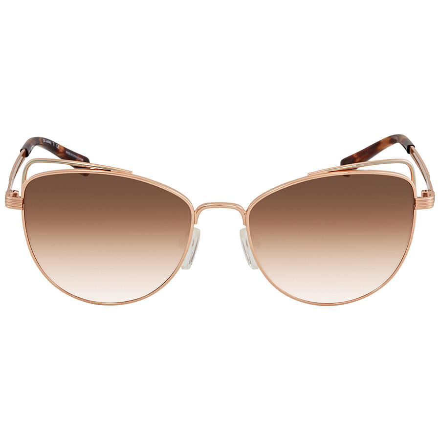 5150cd7075 ... Michael Kors St. Lucia Brown Peach Gradient Cat Eye Ladies Sunglasses  MK1035 110813 55 ...