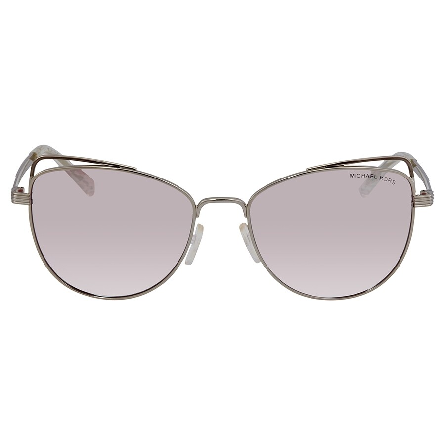7e2a5322de48 ... Michael Kors St. Lucia Mirrored Milky Pink Cat Eye Sunglasses MK1035  11537V 55 ...