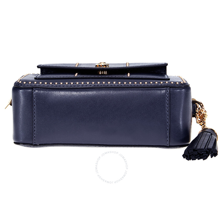 c290106aa04f15 Michael Kors Studded Leather Crossbody - Navy / Black - Michael Kors ...