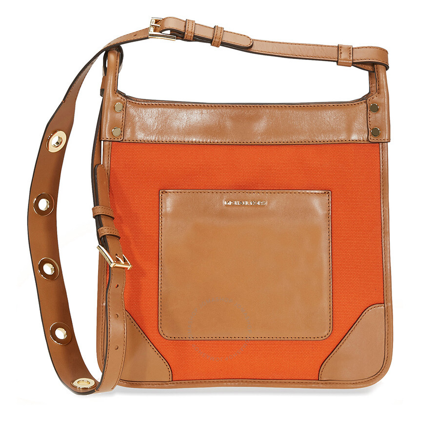 fb4151c47fe3 Michael Kors Sullivan Large Canvas Messenger Bag - Tangerine Item No.  30S7GUPM7C-807
