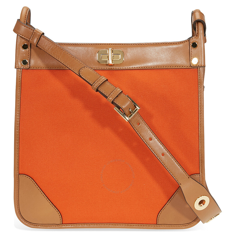 4028accdac76 Michael Kors Sullivan Large Canvas Messenger Bag - Tangerine ...