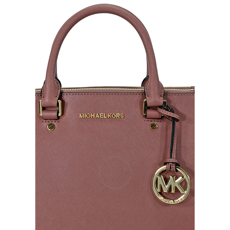 michael kors sutton leather medium satchel handbag dusty rose sutton michael kors handbags. Black Bedroom Furniture Sets. Home Design Ideas