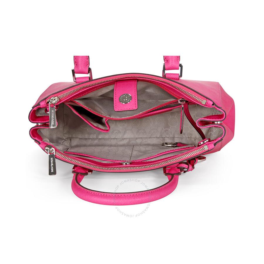 bbcd7380ff7a8 Michael Kors Sutton Leather Medium Satchel - Raspberry - Sutton ...