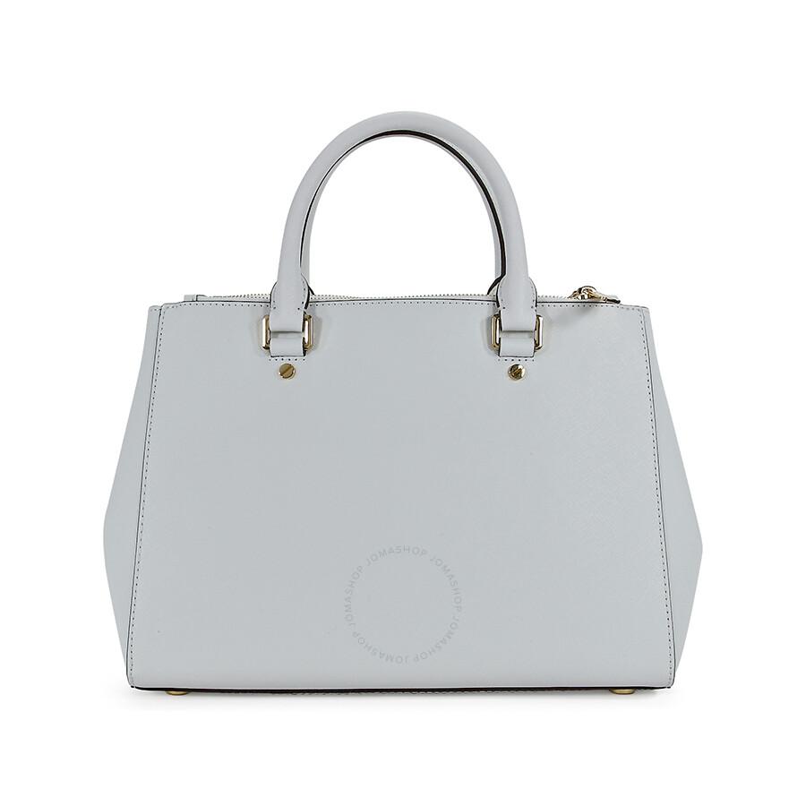 1e14ffdc8e186 Michael Kors Sutton Saffiano Leather Medium Satchel - Optic White ...