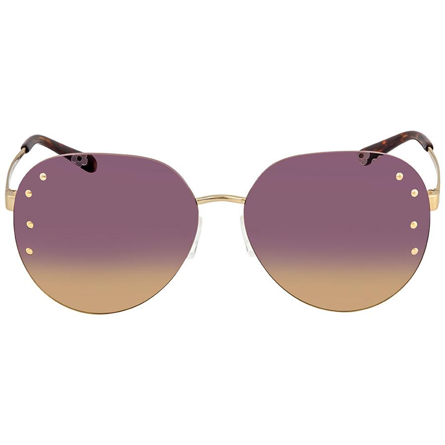 5f74e686e1a8 ... Michael Kors Sydney Purple Yellow Gradient Aviator Ladies Sunglasses  MK1037 121270 60 ...